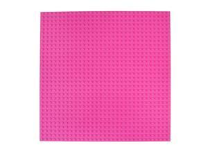 Classic Baseplates 10 x 10 Stackable Brick Base Plate 100 Compatible with All Major Brands | Baseplate for Building Towers Tables amp More | 1 Pink Baseplate