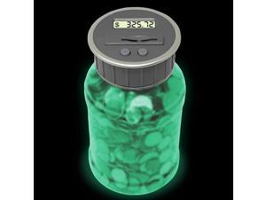 Digital Coin Bank Savings Jar by DE Automatic Coin Counter Totals All US Coins Including Dollars and Half Dollars Original Style Glow in The Dark