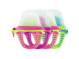 4 Pack Fillable Freezable Baby Teether for Breastmilk Purées Water Smoothies Juice amp More Baby Teether is USA Made amp BPA Free Pink MultiColored