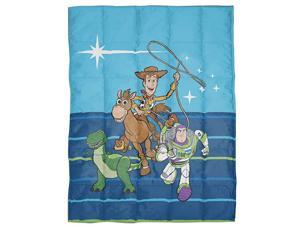 Toy Story 4 Gang Weighted Blanket 45 lbs Measures 36 x 48 inches Kids Bedding Features Woddy Buzz Lightyear Bullseye amp Rex Fade Resistant Super Soft Velboa Official Product