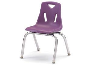 JontiCraft 8144JC1004 Berries Stacking Chair with ChromePlated Legs 14quot Height Purple