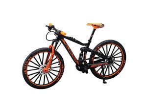 Alloy Mini Downhill Mountain Bike Toy Diecast BMX Finger Bike Model for Collections BlackOrange