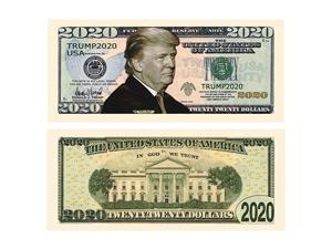 Donald Trump 2020 ReElection Pack of 10 Presidential Dollar Bill Limited Edition Novelty Dollar Bill Full Color Front amp Back Printing with Great Detail
