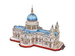 3D Brain Teaser Puzzles for Adults Large Challenge Britain Architecture Church Building Model Craft Kits Birthday Gift for Adults as Hobby StPauls Cathedral 643 Pieces