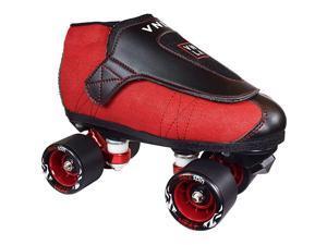 Code Red KidsAdult Jam Skates | Quad Roller Skates for Women and Men from Vanilla MensLadies Womens Indoor Speed Skate Rollerskates for Men Women Boys and Girls Girl Red and Black