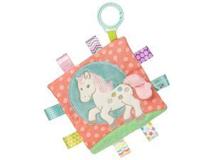 Soothing Sensory Crinkle Me Toy with Baby Paper and Squeaker Painted Pony 65 x 65Inches