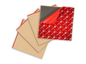 PeelandStick Baseplates Self Adhesive Building Brick Plates Compatible with All Major Brands 4 Pack Tan 10 inch x 10 inch