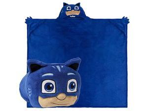 Stuffed Animal Blanket PJ Masks Kids Huggable Pillow and Blanket Perfect for Pretend Play Travel nap time Catboy