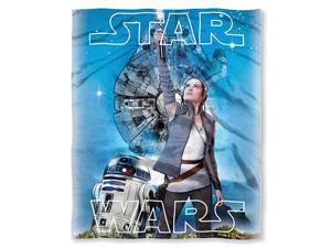 Disney  The Last Jedi quotNew Jediquot HD Silk Touch Throw Blanket 50quot x 60quot Multi Color