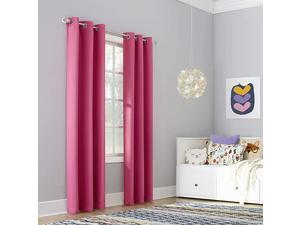 Riley Kids Bedroom Blackout Grommet Curtain Panel 40quot x 63quot Pink