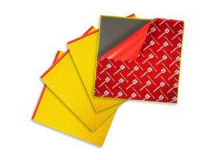 PeelandStick Baseplates Self Adhesive Building Brick Plates Compatible with All Major Brands 4 Pack Yellow 10 inch x 10 inch by