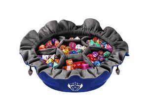 Immense Dice Bags with Pockets Blue Capacity 150+ Dice Great for Dice Hoarders Patented Design