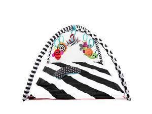 Black amp White Tummy Time Playmat for Tummy or Back Play with Detachable Toys and Bolster Ages 0+ Months