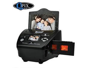 Photo Slide Film Scanner with Popular Scanner 24 inch 81 Mega Pixels 4 in 1 Photo and Film Scanner 135 Negative Scanner Photo Scanner Combo Scanner Views on Your Computer or USBBlack