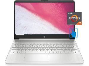 """HP 15-ef FHD Home and Business Laptop (AMD Ryzen 7 4700U 8-Core, 32GB RAM, 512GB m.2 SATA SSD, 15.6"""" Touch  Full HD (1920x1080), Win 10 Home) with McAfee AntiVirus Protection 2021 for 1PC, 1 Year"""