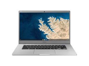 """Samsung Chromebook 4 + Chrome OS 15.6"""" Full HD Intel Celeron Processor N4000 4GB RAM 64Gb Emmc Gigabit Wi-Fi -XE350XBA-K02US - Silver"""