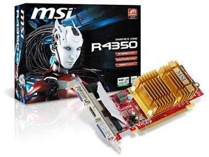 MSI Radeon HD 4350 512 MB DDR2 PCI-Express 2.0 Graphics Card MD512H