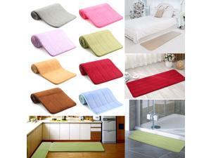 120x40cm Absorbent Long Memory Foam Carpet Door Floor Mat Bedroom Bathroom Kitchen Bath Non Slip Rug-Coffee