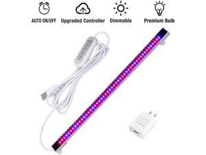LED Grow Light Strip Auto OnampOff Every Day Grow Light with Upgraded Controller 48 LEDs 4 Dimmable Levels for Indoor Plants