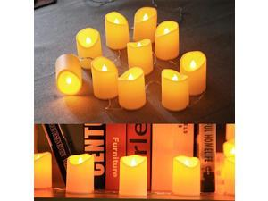 49ft 10 Led Flameless Candles String Lights USB Plug in Flickering LED Candles Decorations for Home Birthday Party Christmas Window Halloween Living Room Wedding Table Fireplace Extendable