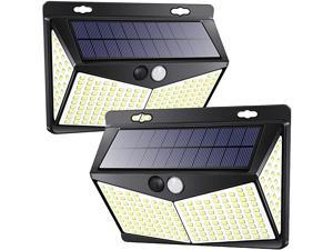 Motion Sensor Lights Outdoor Solar Powered w 208 LED 3 Lighting Modes 270° Wide Angle Lighting IP65 Waterproof Wireless Solar Security Flood Lights for Outside Fence Yard2 Pack 6500K