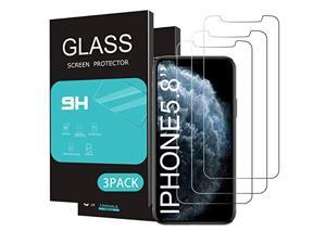 for Apple iPhone 11 ProiPhone XsiPhone X Screen Protector 3 Pack 58 inch DisplayTempered Glass 25D Edge Advanced HD Clarity Work with Most Case
