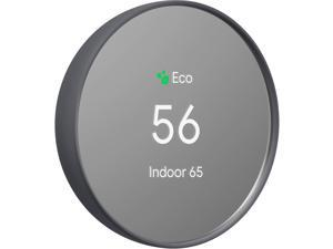 Google - Nest Thermostat - Programmable Smart Wi-Fi Thermostat for Home - Charcoal
