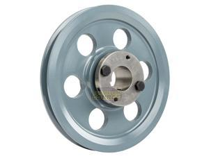 """Cast Iron 7.75"""" Single 1 Groove Belt A Section 4L Pulley w 1-1/8"""" Sheave Bushing"""