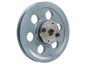 """Cast Iron 8.25"""" Single 1 Groove Belt A Section 4L Pulley w/ 3/4"""" Sheave Bushing"""