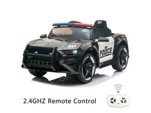 12V Electric Kids Police Pursuit Ride On SUV Toy Car with Remote Control Black