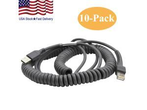 Lot 10 USB Cable 15ft for Symbol Barcode Scanner ls2208 ls4208 CBA-U09-C15ZAR