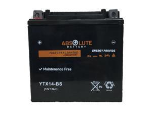 New YTX14-BS Replacement Battery For Yamaha 1000 Apex 2006-2018 Snowmobile AGM