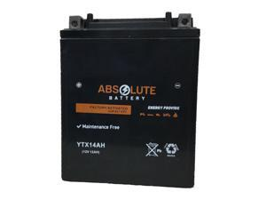 New YTX14AH-BS Replacement Battery for Yamaha 1000 Apex 2006-2018 Snowmobile AGM