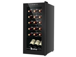 Digital Temperature 18 Bottle Wine Cooler Fridge Refrigerator Cellar 41-64°F