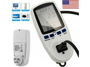 LCD Power Energy Monitor Outlet Watt Amp Volt KWh Meter Electricity Analyzer