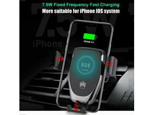Qi Wireless Automc Car Charging Charger Mount Clamping air Vent Phone Holder