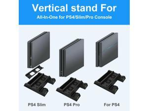 For PS4 Slim / Pro Vertical Stand Controller Charging Dock Ston 2 Cooling Fan