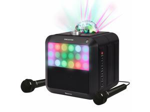 Singston Star Burst All-In-One Karaoke System Machine with Two Microphones