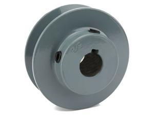"""2.5"""" Cast Iron 5/8"""" Shaft Pulley Sheave Single 1 Groove V Style A Belt 4L New"""