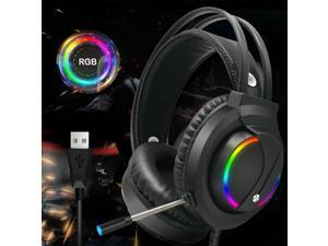 Gaming Headset RGB Surround Sound Mic 7.1 USB Headphones W/Cable For PS4 Laptop