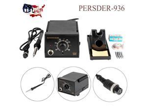 PERSDER-936 Rework Lead Soldering Ston with Iron Stand Desoldering Wire 60W