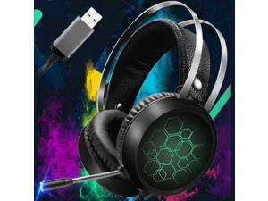 Gaming Headset RGB LED 7.1 Surround Sound Mic USB Headphones For PS4 Laptop