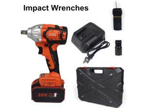 """20V Cordless Impact Wrench 1/2""""Brushless Electric Wrench Driver 800Nm w/ Battery"""