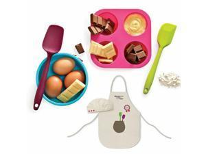 Kids 6-Piece Silicone Baking Muffin Cupcake Molder Set