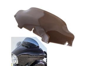 """6"""" Smoke Motorcycle Wave Windshield Screen Fairing For Harley Touring 1996-UP"""