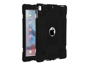 For iPad 6th Generon 9.7 2018 Shockproof Slim Soft Case+Screen Protector Film