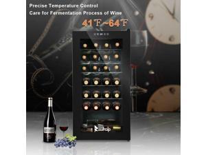 28 Bottle Mini Fridge Bar Wine Cooler Cabinet Beverage Refrigerator Black