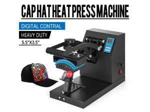 "Heat Press Transfer Digital Clamshell 7x3.5"" Hat Cap Sublimon Machine"