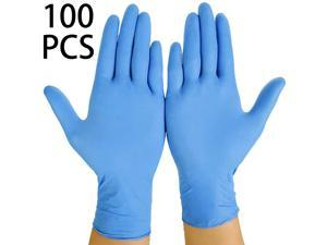 100PCS Multifunctional Disposable Professional Gloves Medical Exam Gloves Powder-Free Kitchen Food Safety Cleaner (50 Pairs) XL size, Blue
