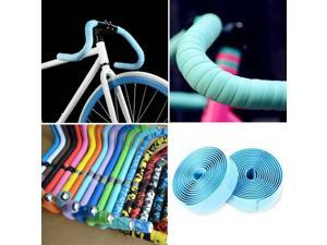 Handlebar Tape Cycling Road Bikes Cycling Rubber Foam Handle Bar Grip Wrap Tape (Light Blue )